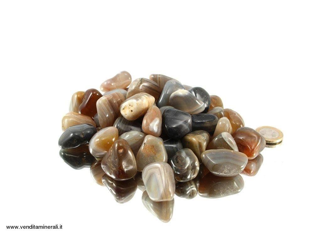 Agata mix di pietre naturali burattate