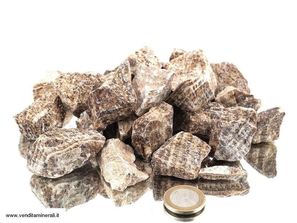Aragonite ridotta - piccole pietre grezze (2-5 cm) - 1 kg