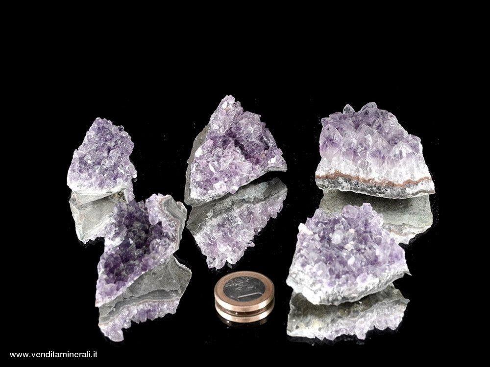 Ametista pezzi di Drusa piccole, qualita' A / B - 5 kg