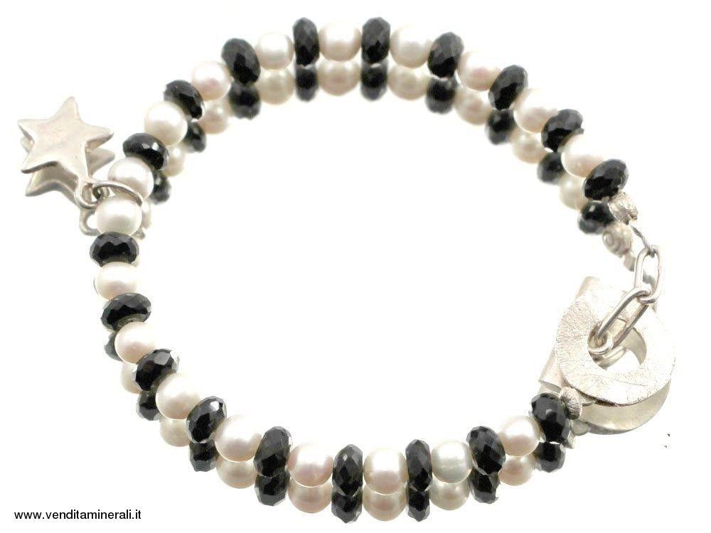 Bracciale spinello con charm in argento