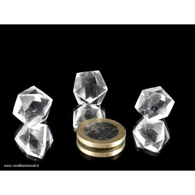 Icosaedro - Cristallo di rocca (corpo platonico)
