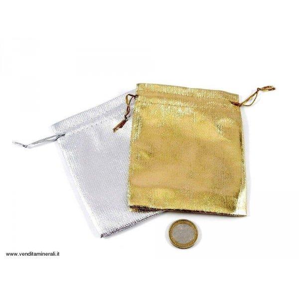 Borsa in organza in oro o argento