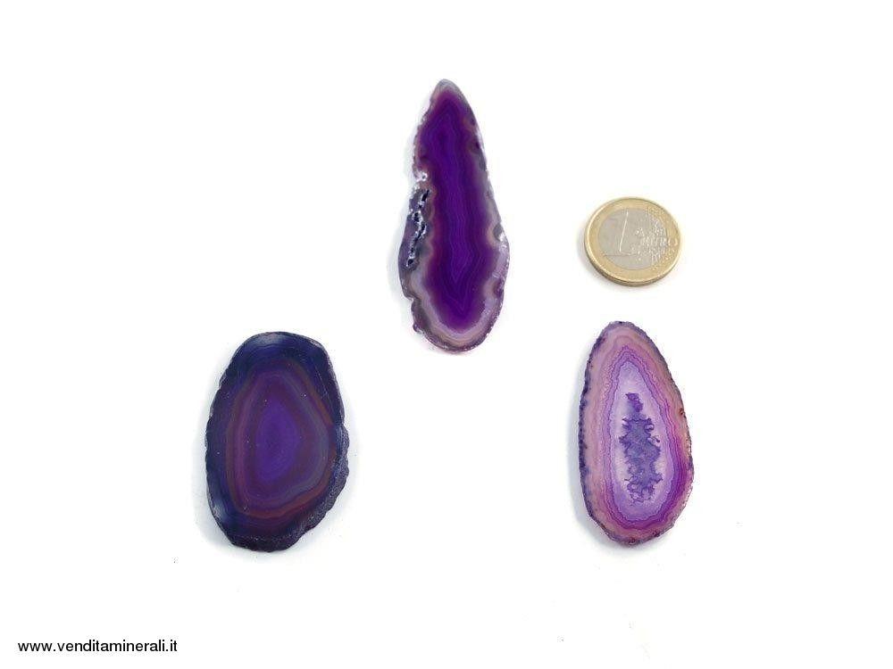 Agata sezionata viola piccola - 1 pezzo