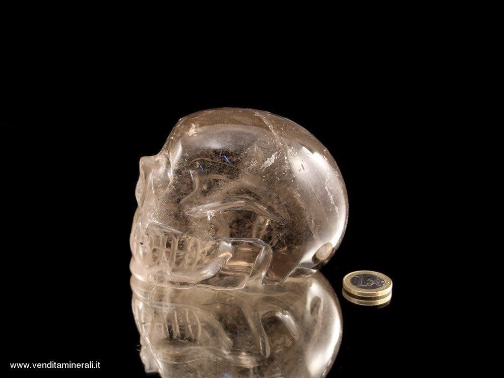 Teschio di cristallo - Quarzo fumé