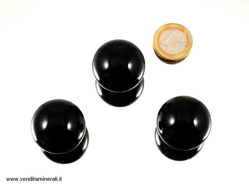 Sfera di ossidiana lamellare 3 cm