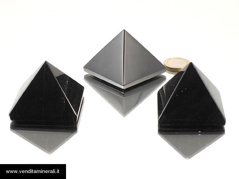 Piramide di lamelle di ossidiana - 1 pz