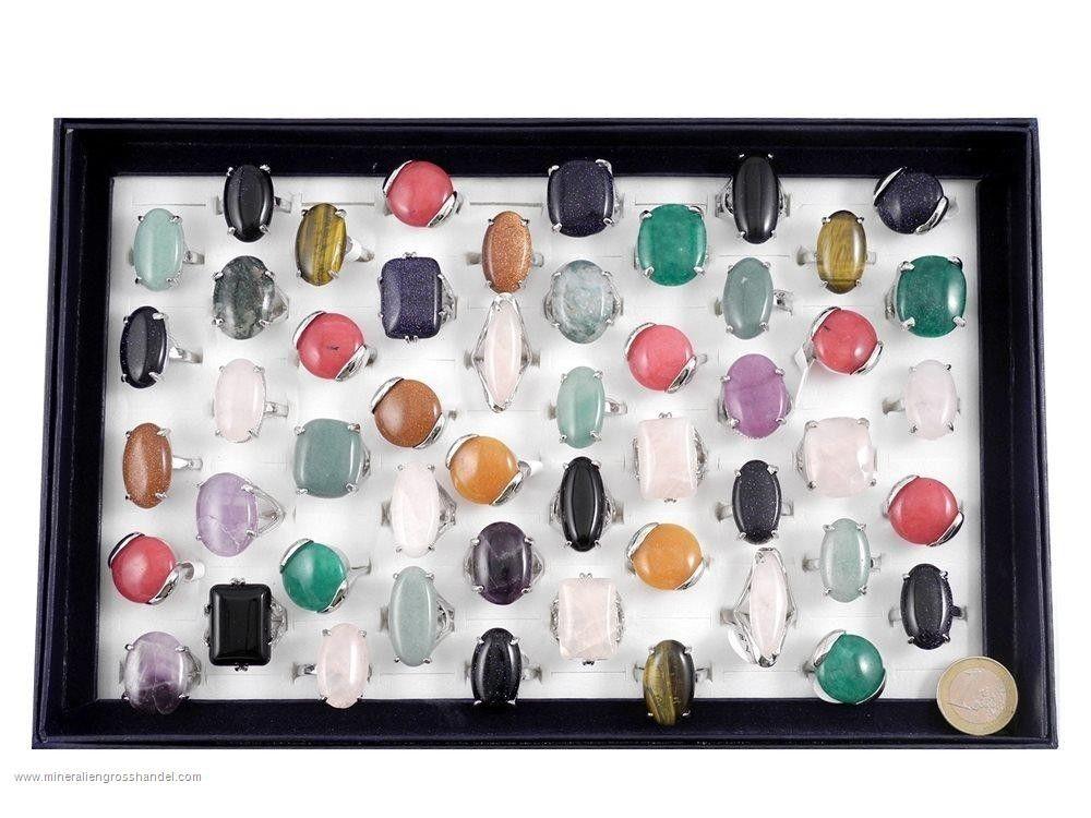 Anelli di pietre preziose - Set anelli 50 pezzi