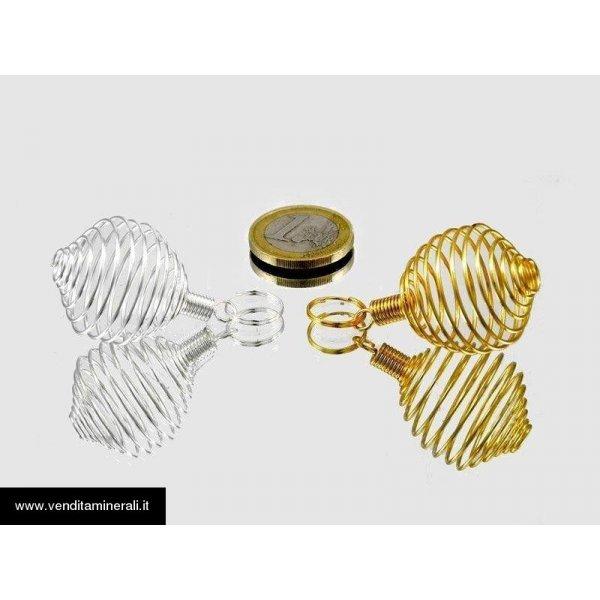 Spirali di metallo argento / oro