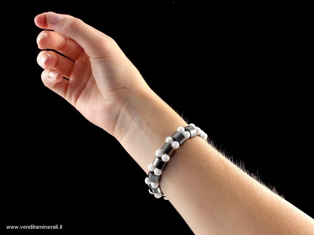 Ematite - bracciale in madreperla