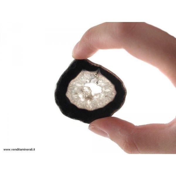 Agata sezionata nera piccola - 1 pezzo