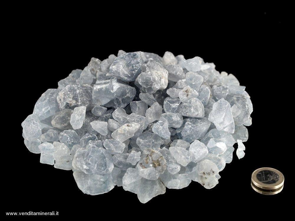 Celestina - piccole pietre grezze - 1 kg
