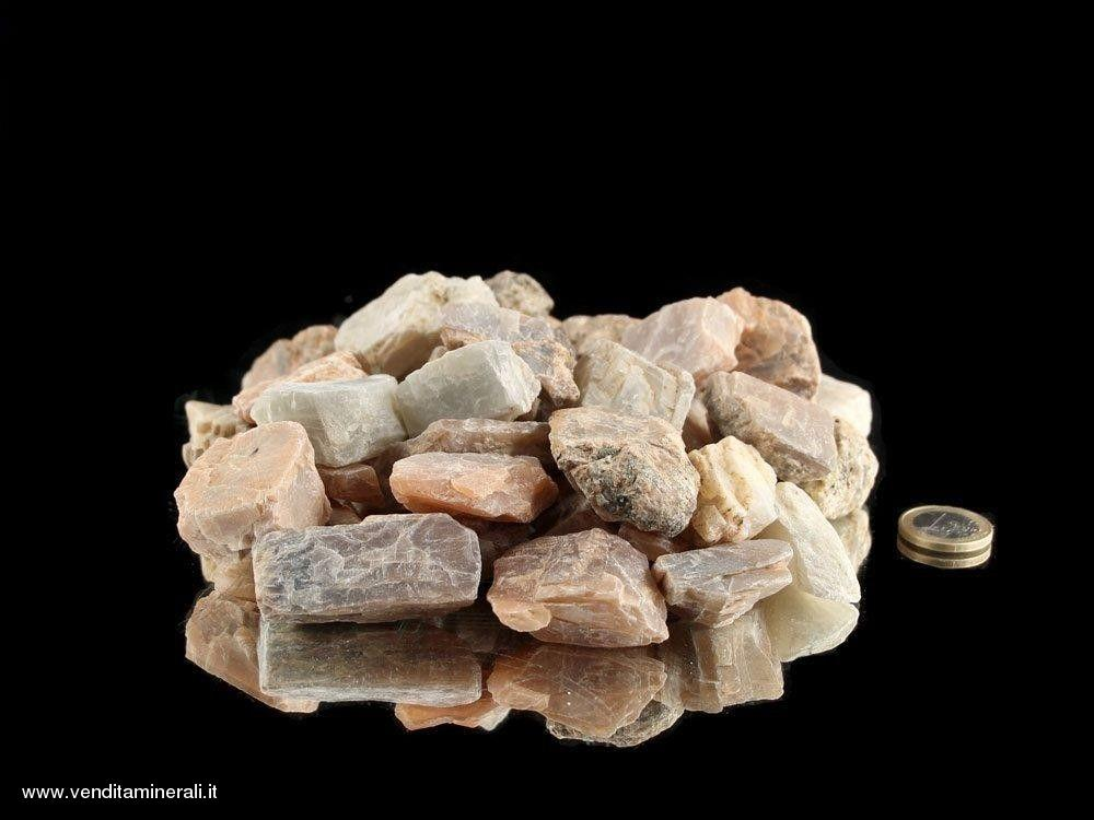 Pietra di luna - piccole pietre grezze (2-5 cm) - 1 kg