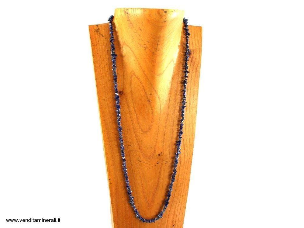 Lunga catena di schegge di lapislazzuli