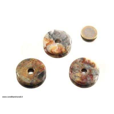 Legno agatizzato a forma di ciambella - 40 mm
