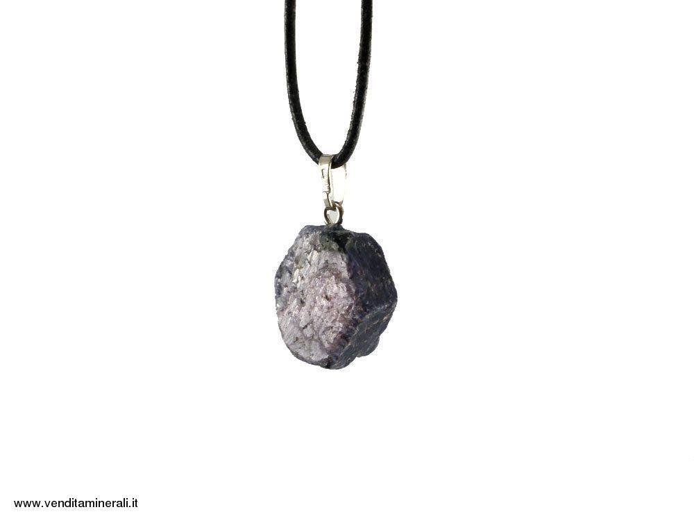 Ciondolo in cristallo di zaffiro 925 argento