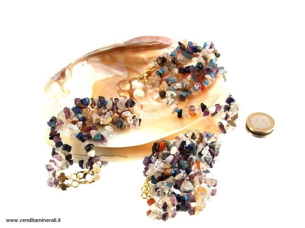 Catenina di mix colorato di varie pietre