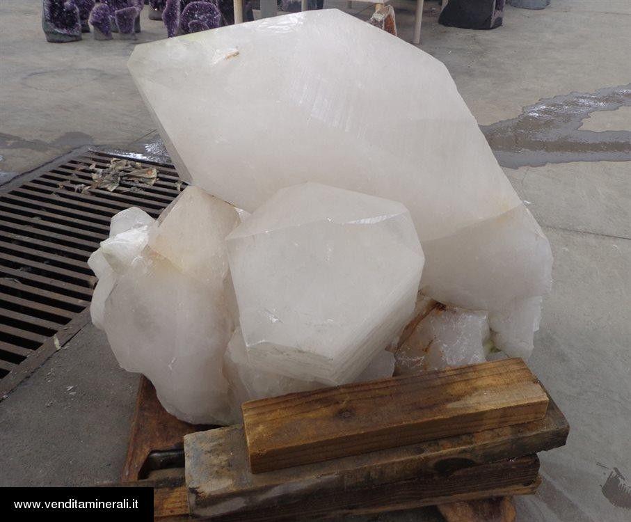 Lotto di cristallo di rocca - 3 singoli monocristalli