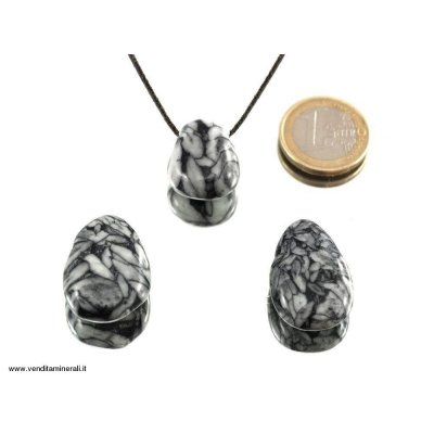 Pendente a goccia in pinolite (Magnesite di ghiaccio)