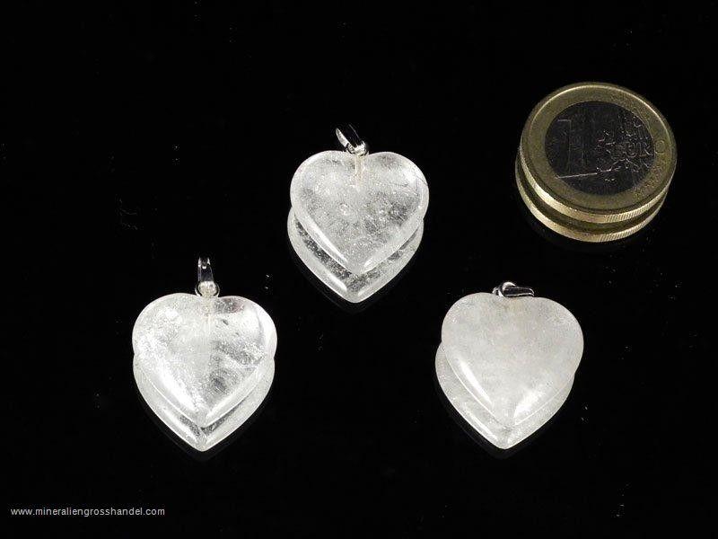 Pendente a cuore in cristallo di rocca