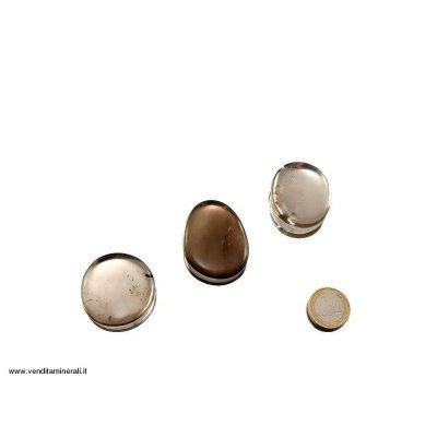 Pietra da tasca al quarzo fumé - 1 pezzo