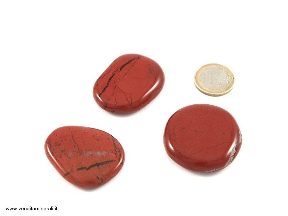 Pietra tascabili di diaspro rosso - 1 pezzo