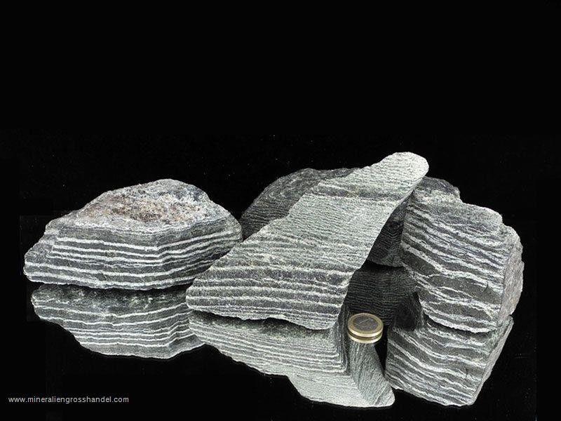 Pietre grezze di crisotili occhio d'argento - serpentino -  1 kg
