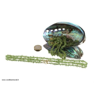 Peridoto - Catena di fili di olivina