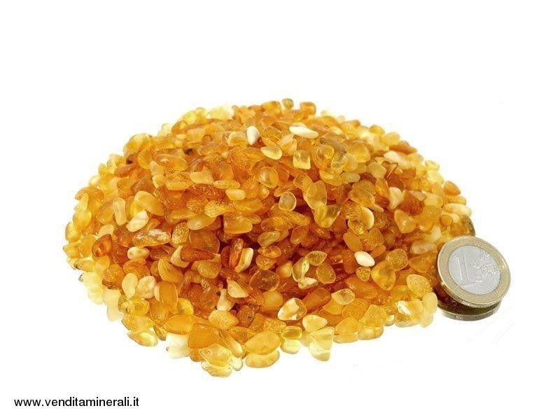 Pietre micro ambrate - 0,1 kg
