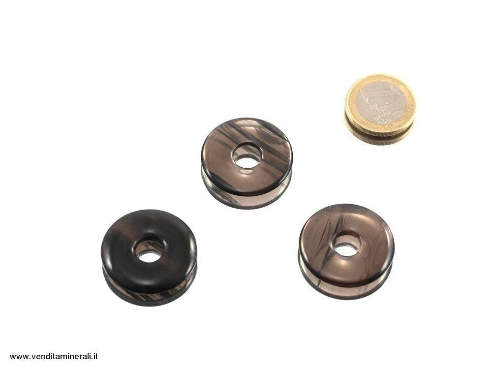 Lamello d'ossidiana a forma di ciambella - 30 mm