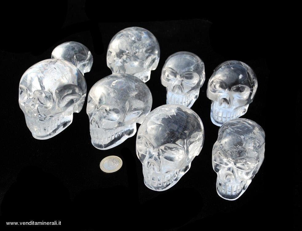 Teschio in cristallo di rocca -1 pezzo