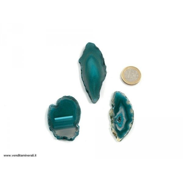 Agata sezionata turchese piccola - 1 pezzo