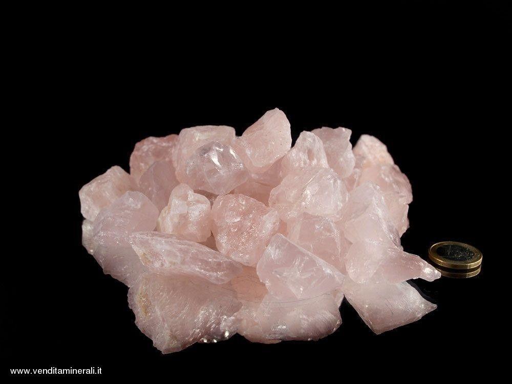 Pietre grezze di Quarzo rosa in piccoli pezzi - Qualità A - (2-5 cm) - 1 kg
