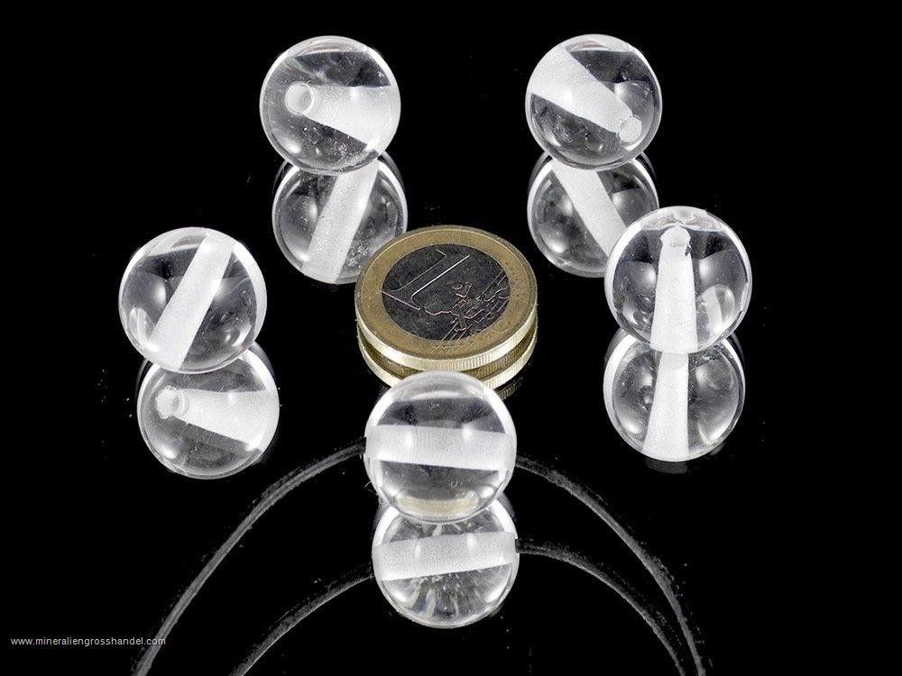 Sfera di cristallo di rocca 18 mm perforata - 1 pezzo