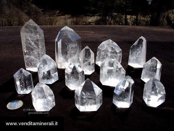Cristalli di roccia - lucidati - qualità A - 0,5 kg