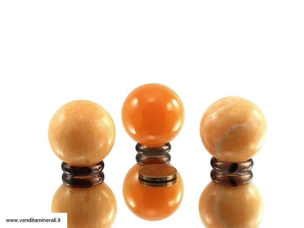 Palla di calcite arancione 4 cm