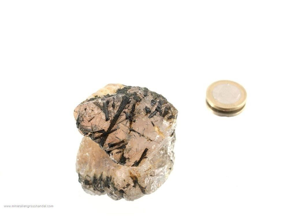 Cristallo di Morganite e Turmalina