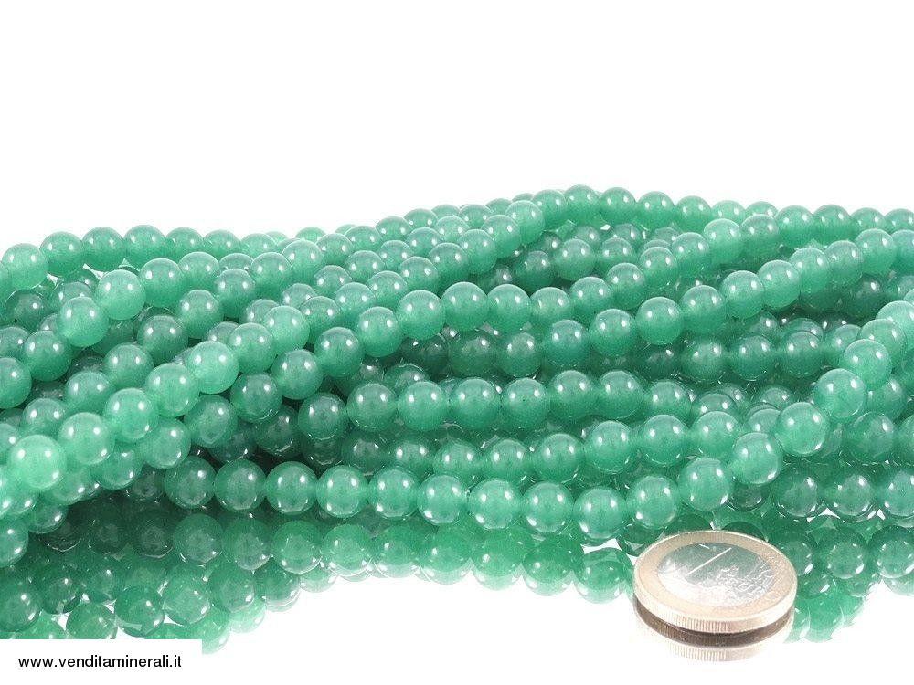 Filo della catena a palla verde avventurina da 8 mm