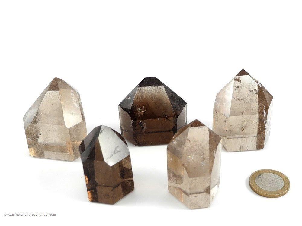 Cristalli di quarzo fumé lucidati - 0,5 kg