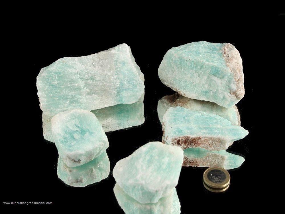 Aragonite pietre azzurre chiare / blu