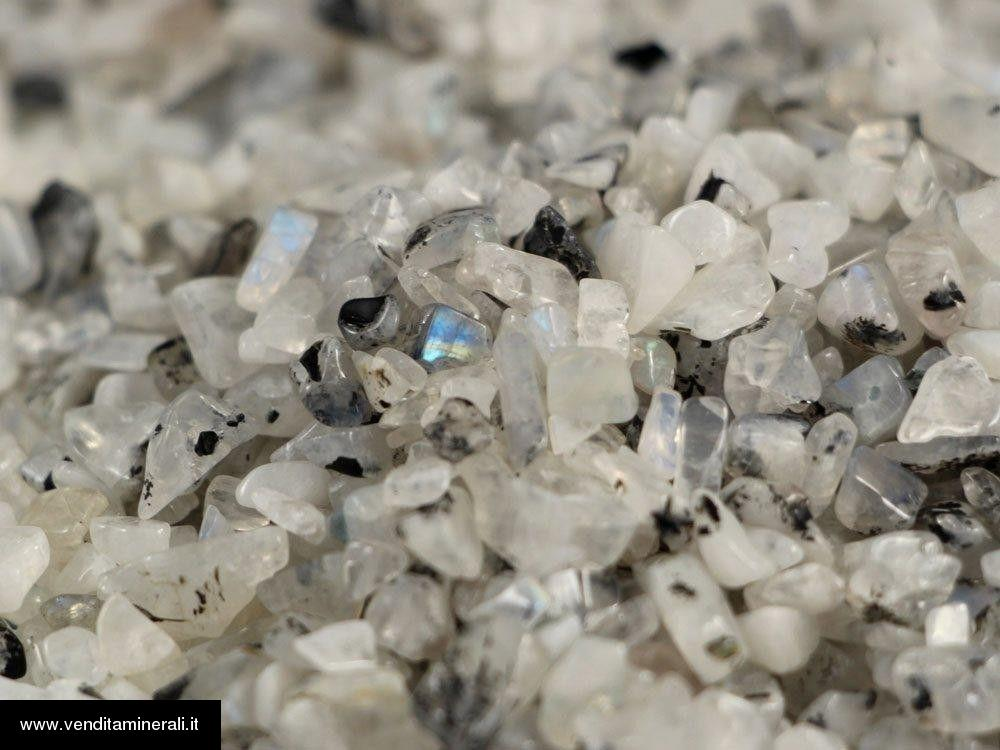 Micro pietre bocciardatepietre di luna-arcobaleno - 0,5 kg