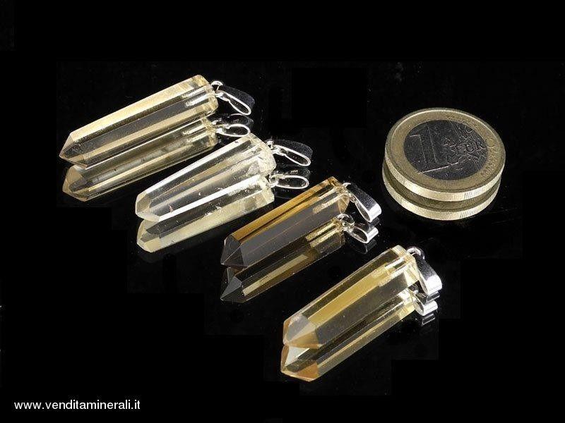 Trailer di cristalli di citrino naturali - argento 925