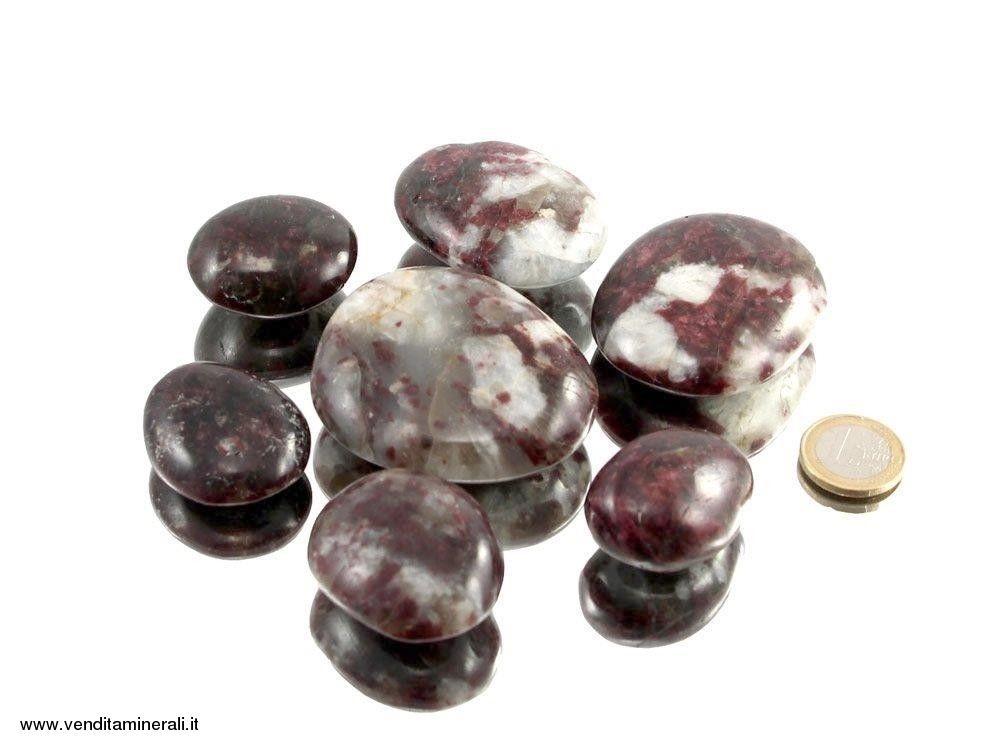 Pietre rotonde di tormaline rosse - 0,25 kg