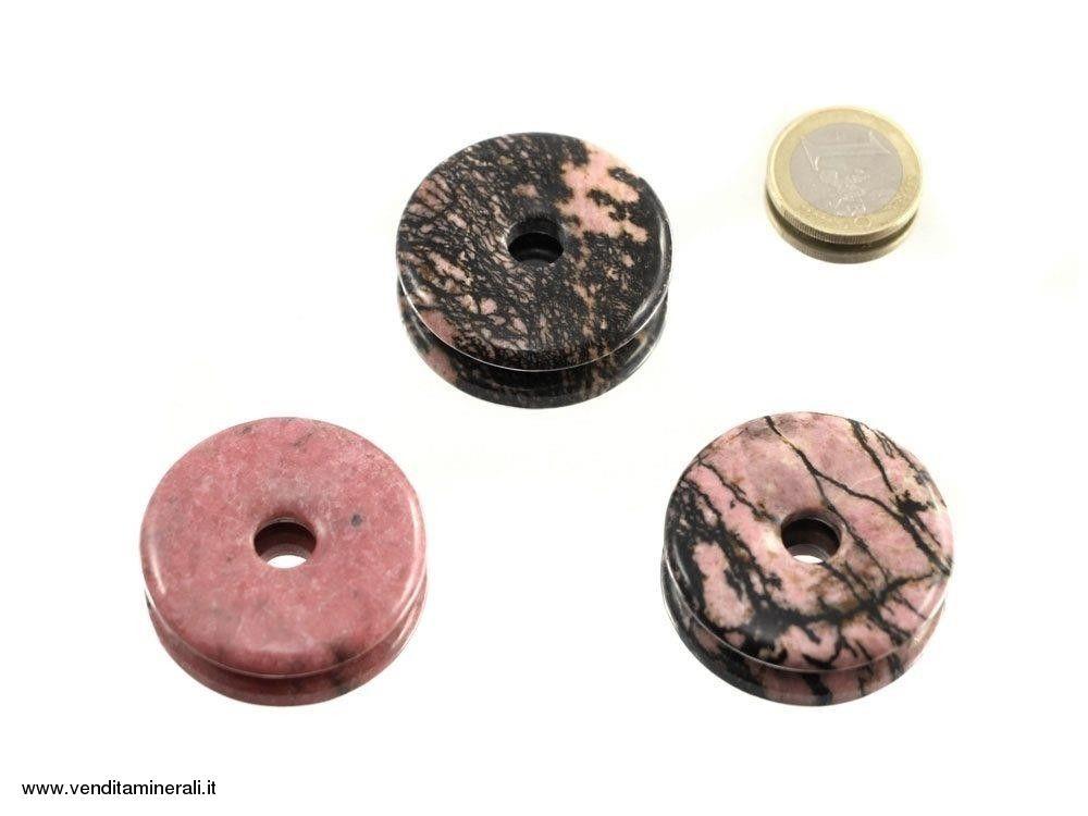 Rodonite a forma di ciambella - 40 mm