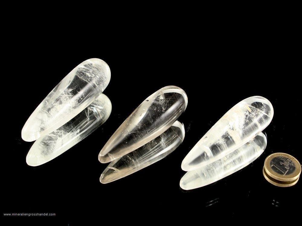 Bastoncini di cristallo di rocca per massaggi