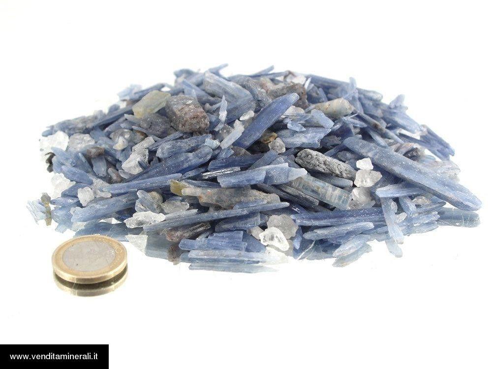 Piccole pietre grezze di cianite (cianite, disten) - 1 kg
