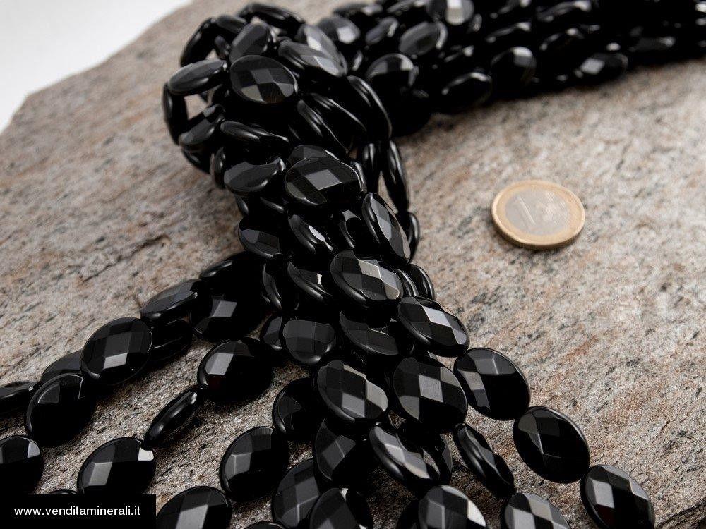 Filo di catena in agata nera