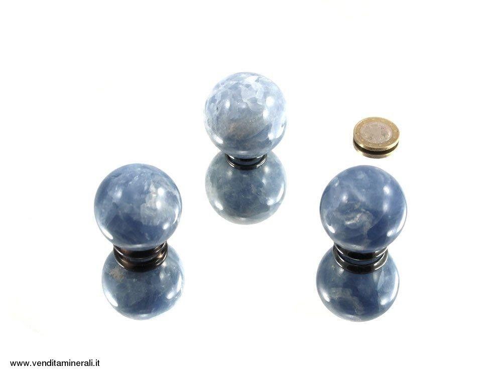 Calcite palla blu chiaro 4 cm