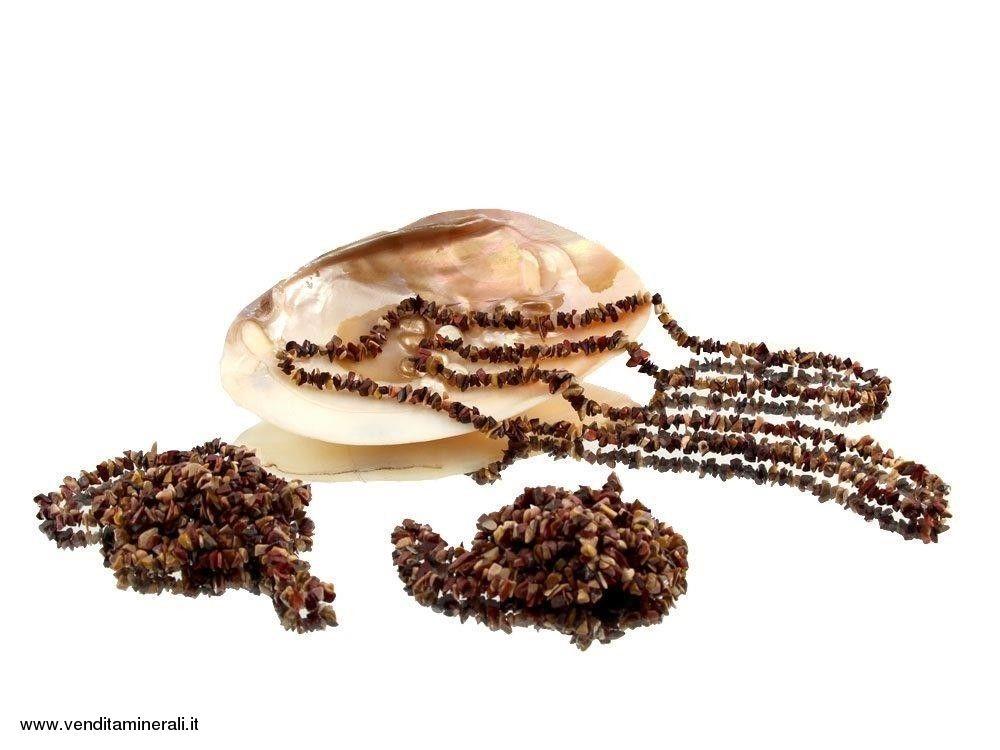 Lunga catena di scheggia malachite