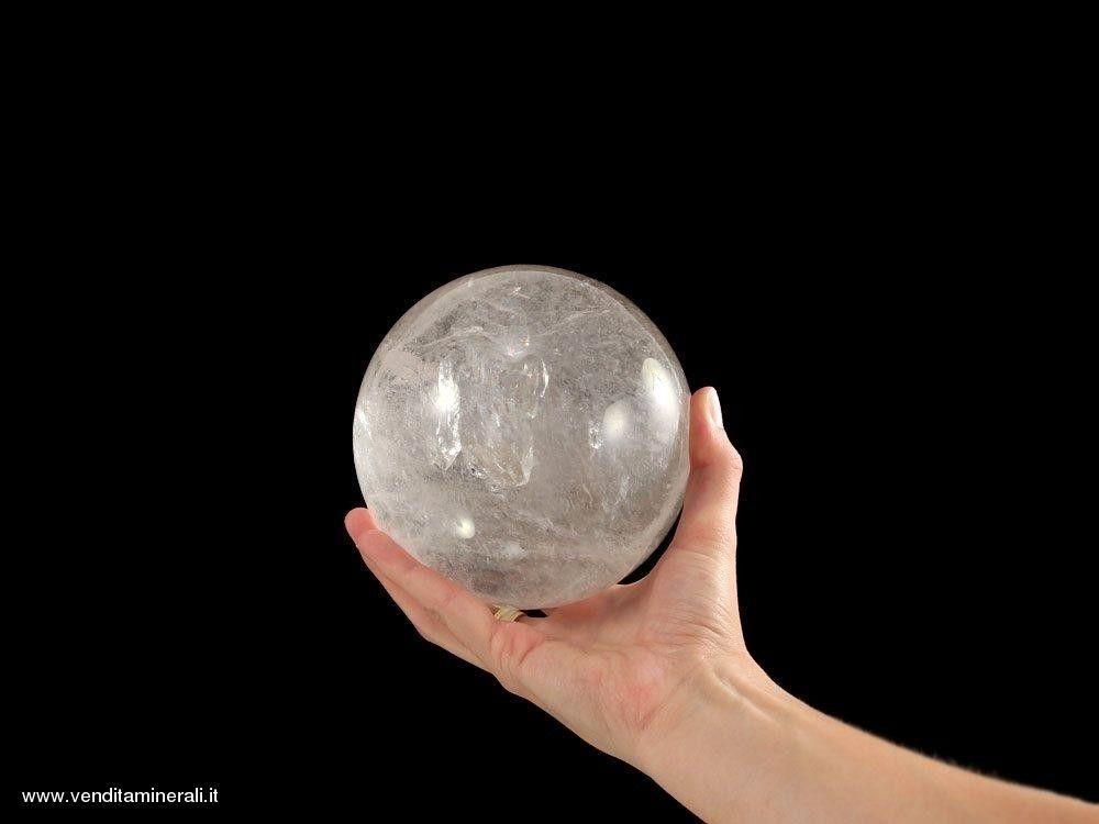 Vera sfera di cristallo di rocca - 12 cm