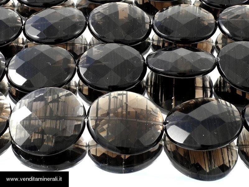 Bottini di lamelle d'ossidiana sfaccettati XL